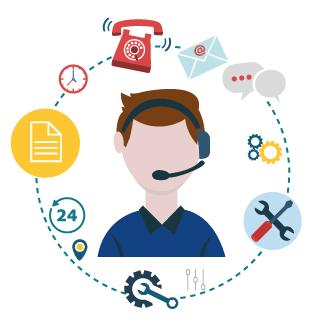 Aportamos soluciones personalizadas y una atención inmediata. En menos de una hora nuestros técnicos darán con la solución.