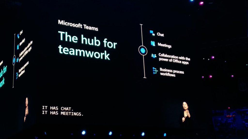 La keynote de Satya Nadella en el Microsoft Inspire 2019, The hub for teamwork