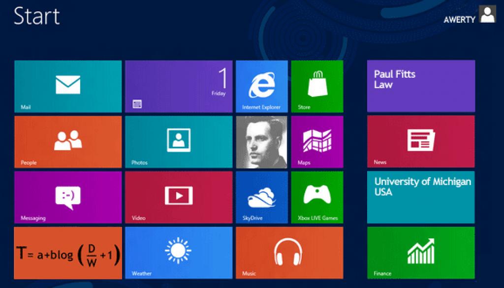 Interfaz Windows 8