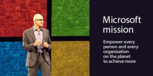 Microsoft mission Satya Nadela WPC2015