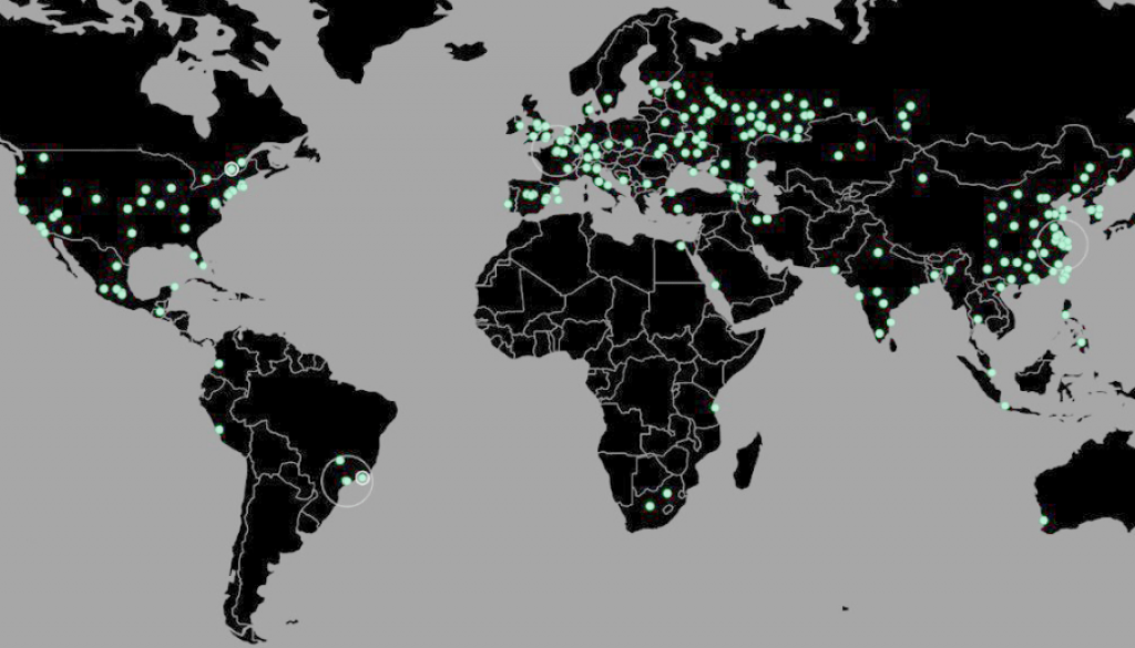 ransomware cyber attack map