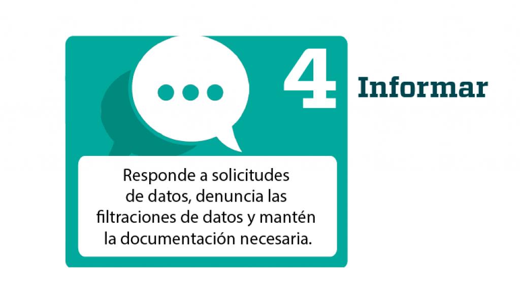 GDPR Reglamento general de Proteccion de Datos Paso 4 Informar