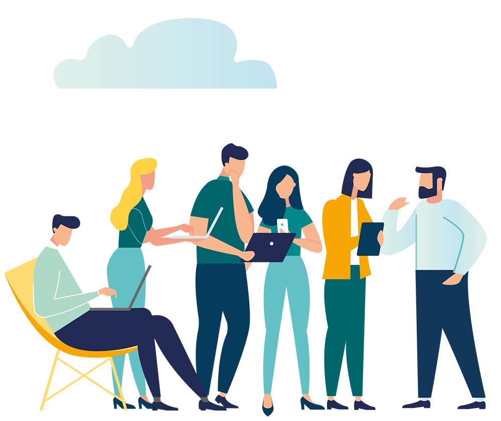 Empresa moderna digital